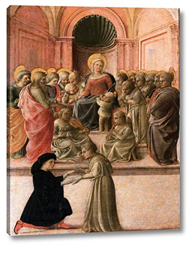 """Virgin and Child with Saints, Angels, and a Donor by Fra Filippo Lippi - 18"""" x 24"""" Gallery Wrap Canvas Art Print - Ready to Hang"""