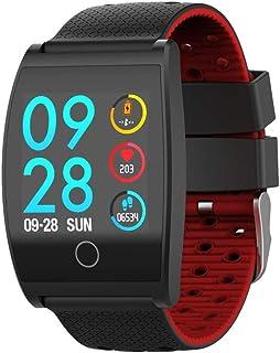 Zomeber Relojes Inteligentes Aptitud tracke QS05 Pantalla de 1.3 Pulgadas IPS Color Ajustes Pulsera IP67 a Prueba de Agua (Negro)