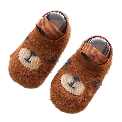 Jinjin 3Pcs Autumn Winter New Baby Floor Socks Cartoon Velvet Yarn Baby Socks Children's Non-Slip Toddler Footwear Best Comfortable Gift for Babies