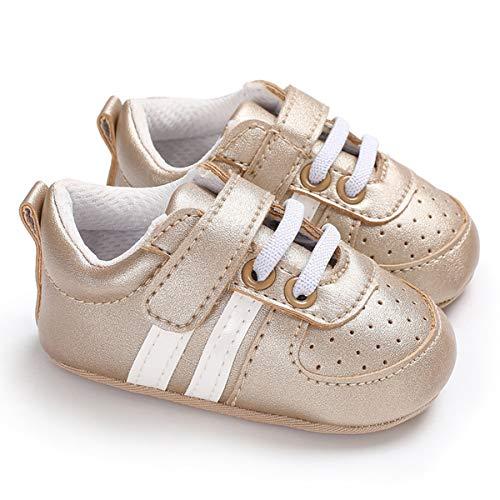 XingYue Direct Mode Bébé Chaussures Garçons Filles Enfants Premier Walker Antidérapant Infant Toddler Chaussures Baskets Prewalker pour 0-1 Ans (Color : Gold, Size : 12cm)