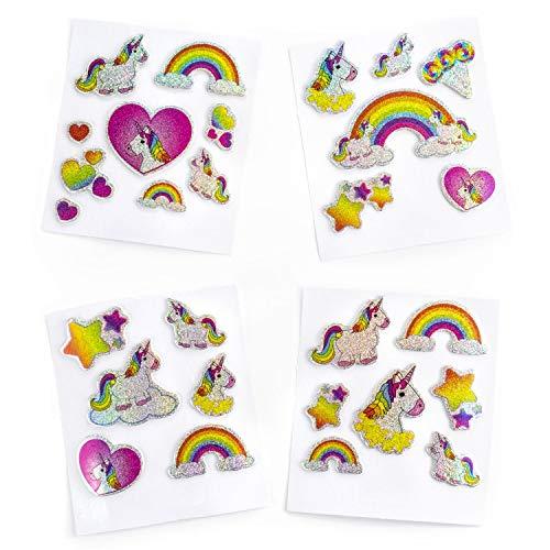 Palandi Einhorn Gel-Sticker Aufkleber 28 Stück Kindergeburtstag Mottoparty Mitgebsel Sticker
