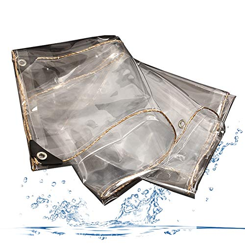 Cubierta Impermeable para Plantas Transparente Impermeable, PVC Toldo, Lona Plástica Impermeable a Prueba de Lluvia, Película de Invernadero, para Flores o Invernadero (2 * 3m)