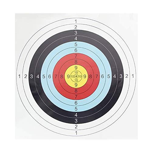 NICEJW 10 Stück/Set Bogenschießen Zielpapier, 60 X 60 cm Vollring Pfeil Bogenschießen Übung Bogenschießen Zielpapier Einheitsgröße