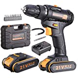 Best Cordless Drills - Inspiritech 21V Max Cordless Drill/Driver with 2 Lithium Review