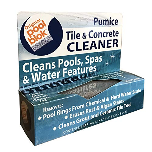 "US Pumice Pool Blok, PB-80, Pool Tile & Concrete Cleaner, Pumice Block, Pumice Stone for Cleaning Pools, Spas & Water Features, Pool and Spa Cleaner, 6-1/2"" x 1-1/2"" x 1-1/2, Pack of 1"