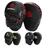 Sanabul Essential Curved Boxing MMA Punching Mitts (Black/Red) mma gloves Nov, 2020