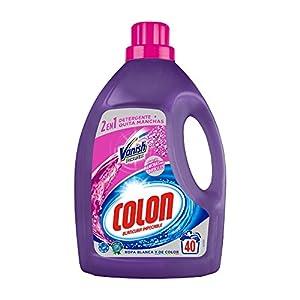 Colon Vanish Powergel – Detergente para lavadora con quitamanchas, adecuado para ropa blanca y de color, formato gel – 40 dosis