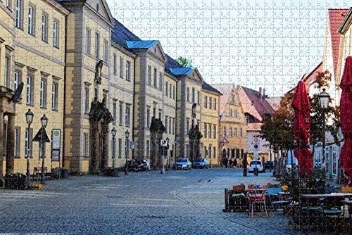 Puzzle für Erwachsene Bayreuth Downtown Germany Puzzle 1000 Stück hölzernes Reisegeschenkgeschenk