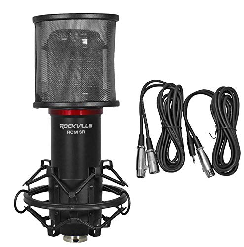 Rockville Studio/Recording Condenser Microphone Mic w/Samsung Capacitors (RCM SR)