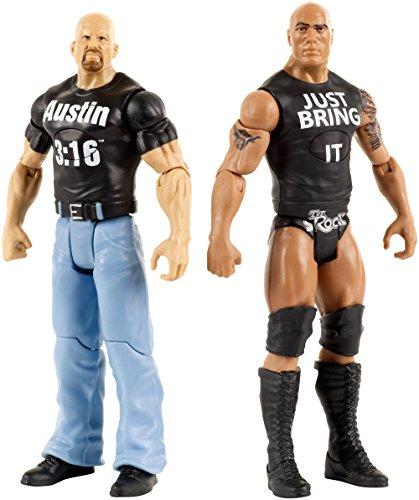 WWE Tough Talkers Action Figuren - Stone Cold Steve Austin & The Rock (Englische Sprache)