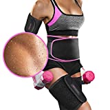 Perfotek Waist Trimmer Belt, Slimmer Kit, Weight Loss Wrap, Stomach Fat Burner, Low Back and Lumbar Support with Sauna Suit Effect, Best Abdominal Trainer, Arm & Thigh Shaper, Black (Small)