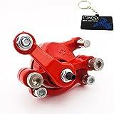 STONEDER Étrier de frein à disque arrière droit rouge pour moteur 2 temps 43 cc 47 cc 49 cc Mini moto Pocket Bike Scooter à gaz