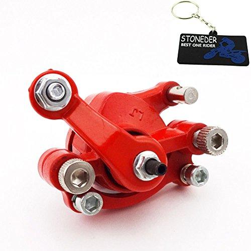 STONEDER Rote Scheibenbremssattel hinten rechts für 2-Takt 43cc 47cc 49cc Mini Moto Pocket Dirt Bike Gas Scooter