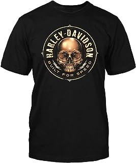 Harley-Davidson Military - Men's Black Skull Graphic T-Shirt - NAS Sigonella | Skull Circle