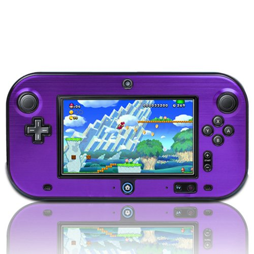 TNP Wii U Gamepad Case (Purple) - Plastic + Aluminium Full Body Protective Snap-on Hard Shell Skin Case Cover for Nintendo Wii U Gamepad Remote Controller
