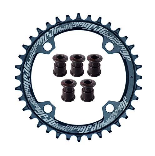 JGbike Elite Runden Oval Kettenblatt 104mm BCD Chainring 30T 32T 34T 36T 38T Schmales breites Einzelkettenblatt für 8 9 10 11 12-Gang MTB XC Trail E-Bike Fatbike Mountainbike Fahrrad