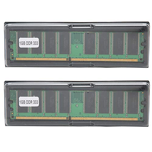 Desktopspeicher,2GB Kit (2X1 GB) DDR 333MHZ PC-2700 2.5V Desktop Memory,184 Pin RAM Desktop Arbeitsspeicher Voll kompatibel für Inter/AMD