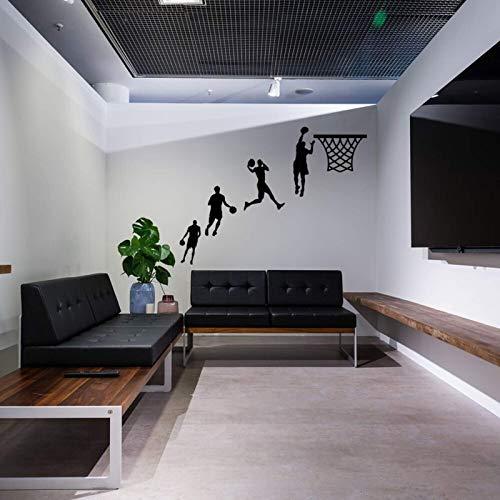 AGiuoo Basketball Dunk Wall Decal Game Sport Etiqueta de la Pared para habitación de niño Nuevo diseño de decoración del hogar de Arte 136x42cm