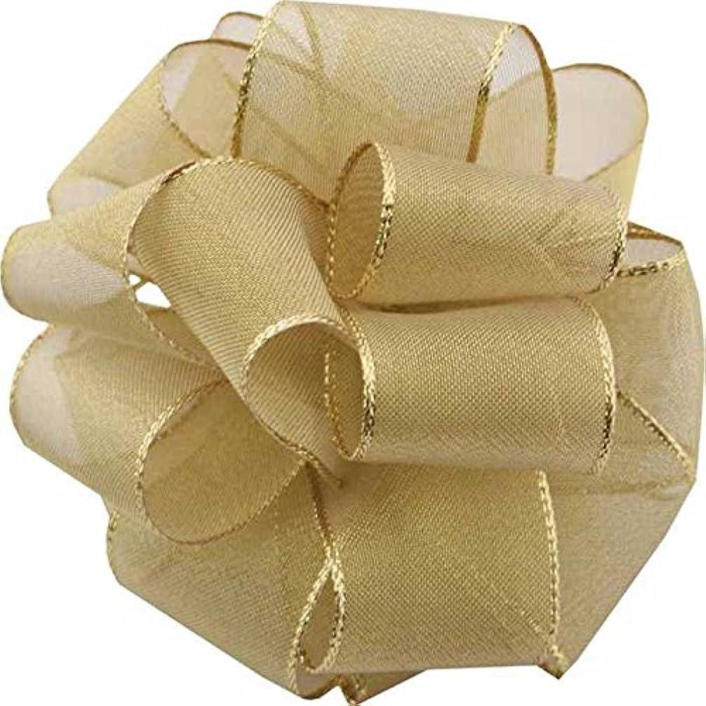 Berwick Offray LLC Lion Spun Metal Wired Edge Ribbon-3/8 X 50yds-Gold Ribbon