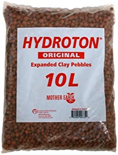 Hydroton Original Clay Pebbles - 10 Liter | Lightweight Expanded Clay Aggregate Made in Germany