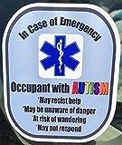 Autism Medical Alert Safety Decal Sticker