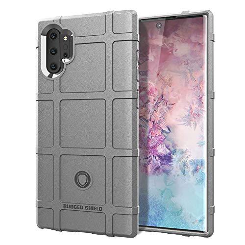 Funda compatible con Samsung Galaxy Note 10 Pro, funda Slim Fit, funda de silicona suave, ultrafina, ultraligera, mate, antiarañazos, silicona gris Talla única