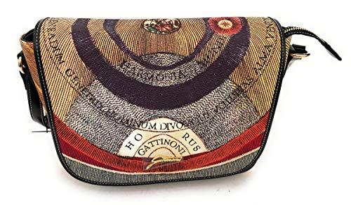 Gattinoni Borsa donna Shopping misura Large Stampa Planetarium BEGPL6441WPQP26 Flap Bag PVC+leather Classic/Black