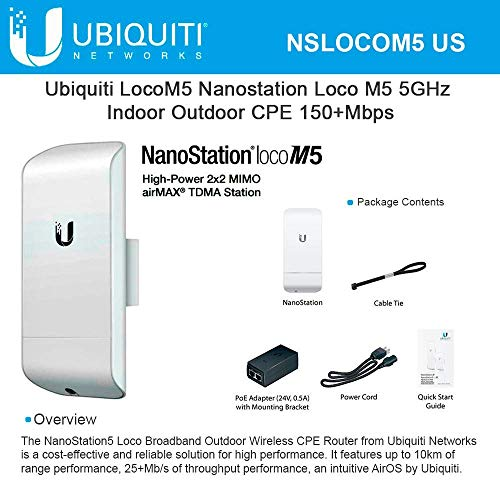 Ubiquiti LOCOM5 - Punto acceso exterior nanostation