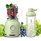 Smoothie Blender Personal Blender, Chic Now Portable Smoothie Maker for Juice Shakes and Smoothie with 6 Sharp Blades, Travel Cup and Lid, Green