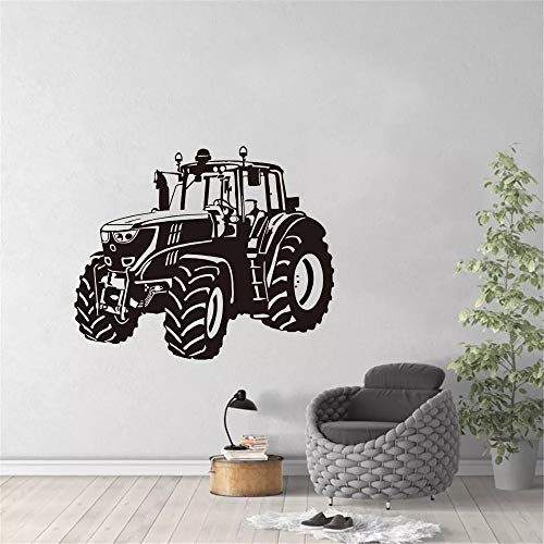 Vinilo de pared de coche de tractor de dibujos animados de conducción de tractor agrícola grande | adecuado para decoración de dormitorio de fondo de TV de sala de estar