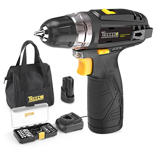 """Compact Drill Driver, Cordless Drill with 2Pcs 2000mAh Li-Ion Batteries, 20+1 Torque Setting, Fast Charger, 3/8"""" Chuck, 265In-lbs Torque, 29pcs Accessories"""
