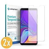 smartect Panzerglas kompatibel mit Samsung Galaxy A9 2018 [2 Stück] - Bildschirmschutz mit 9H Härte - Blasenfreie Schutzfolie - Anti Fingerprint Panzerglasfolie