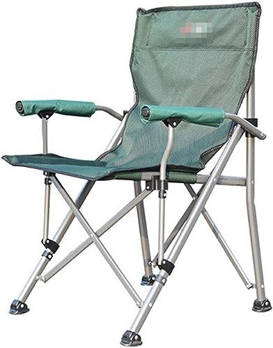 AJZXHE Chaise de Camping Pliante Chaise de pêche Chaise de Plein air Dur accoudoir Pliant Retour Chaise de Plage Chaise de pêche Portant 150KG Poids Chaise de Camping Pique-Nique