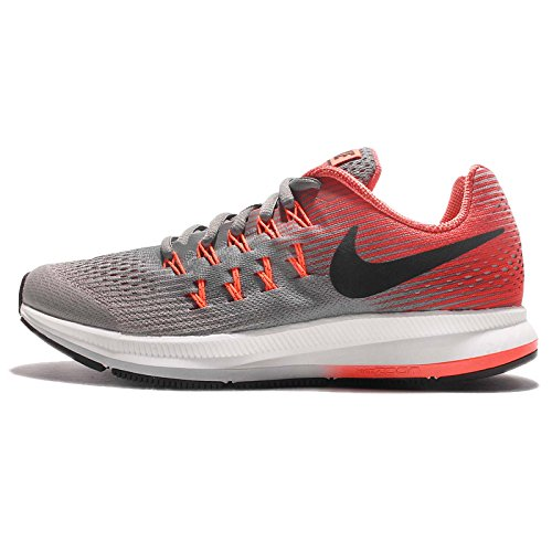 Zapatillas de running Nike Zoom Pegasus 33 (GS) para ni?o (3.5Y-7Y) Cool Grey / Black / Wolf Gray / Track Red Size 3.5 M US