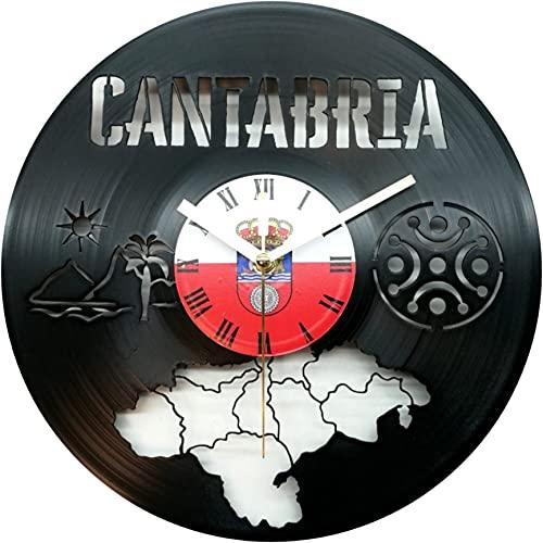 Reloj de Cantabria, Fabricado en Disco de Vinilo.