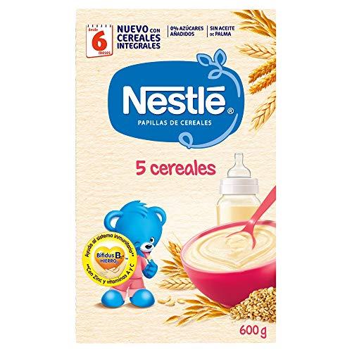 Nestlé Papilla 5 cereales Alimento Para bebés - Paquete de 600 gr