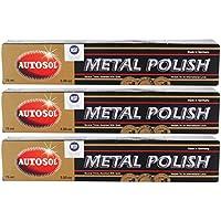 Autosol Metal Polish Chrome Shine 75ml Paquete de 3