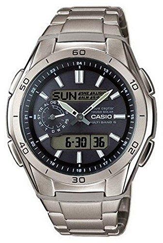 Casio Wave Ceptor Homme Analogique-Digital Quartz Montre avec Bracelet en Titane WVA-M650TD-1AER