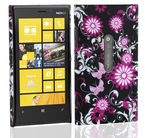 Cadorabo – TPU Hard Cover per  Nokia Lumia 800  - Case Cover Involucro Bumper Accessorio in Design: Lovely Butterfly