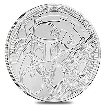 2020 NU 1 oz Niue Silver $2 Star Wars Boba Fett Dollar Uncirculated
