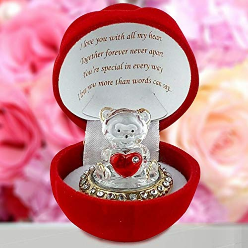 Saffri Red Rose Teddy Bear Gift GF BF Girlfriend Boyfriend Husband Wife Anniversary...