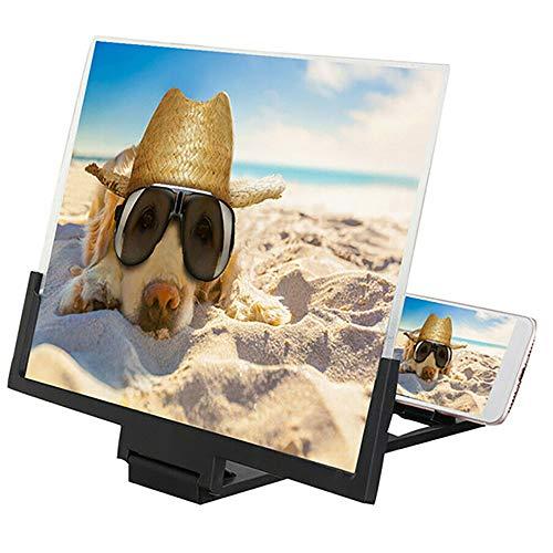 Handy Lupe Bildschirmlupe 14-Zoll Bildschirm Vergrößerungsglas Ausziehbarer HD Bildschirm Projektorbildschirm Für Filme Blaulicht Handy Bildschirmlupe Unterstützt Alle Smartphones (schwarz)