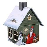 Crottendorfer Metall Häuser mit integriertem Räucherkerzenhalter Weihnachten