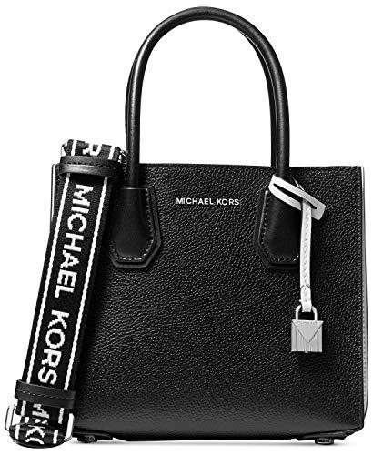 Michael KorsMercer Pebbled Leather Messenger BagDonnaBorse a spallaNero (Blk/Opticwht)10x19x22 centimeters (B x H x T)
