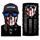 MIRKOO 3D Breathable Seamless Tube Face Mask, Dust-proof Windproof UV Protection Motorcycle Bicycle ATV Face Mask for Cycling Hiking Camping Climbing Fishing Hunting Motorcycling (MK-864)