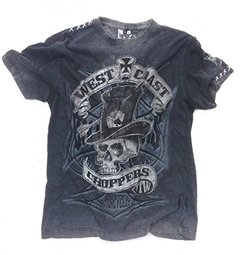 West Coast Choppers T-Shirt Cash Only Tee, Color:black/grey;Größe:L