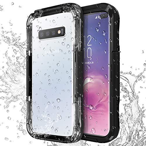 AICase Funda Impermeable Galaxy s10, IP68 Waterproof Outdoor Delgado Cover a Prueba de choques Anti-rasguños Full Body con Protector de Pantalla Impermeable Funda para Samsung Galaxy S10