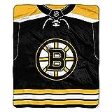 The Northwest Company NHL Boston Bruins 'Jersey' Raschel Throw Blanket, 50' x 60' , Black