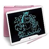 RichgvTablette d'écriture LCD, 15 Pouces d'écriture Doodle, Planche à Dessin, pavé numérique pour Enfants et Adultes à la Maison, à l'école, au Bureau (Rose)