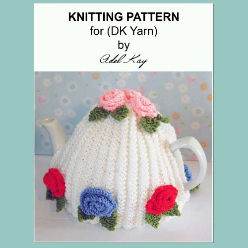 Ann Vintage Roses Style Tea Pot Cosy Cover DK Knitting Pattern